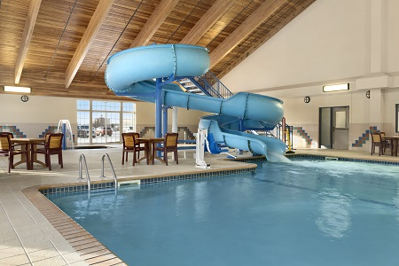 Indoor pool and waterslide