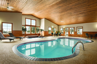 Indoor pool and hot tub at Grand Rapids hotel