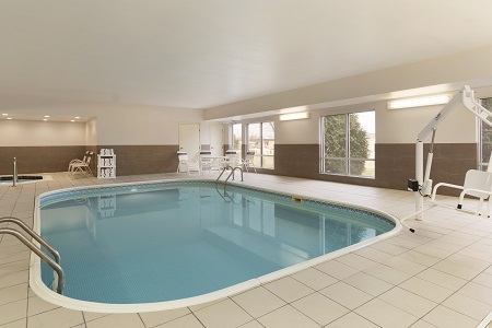 Indoor pool at Rochester hotel