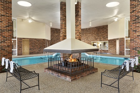 Heated indoor pool at hotel in Woodbury