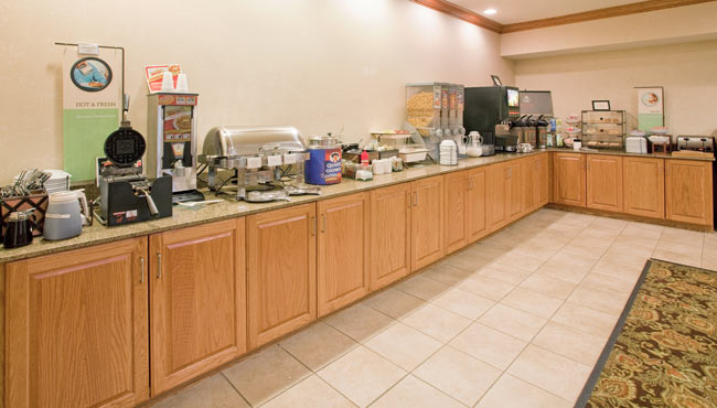 Complimentary, Hot Be Our Guest Breakfast Buffet