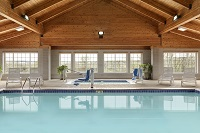 Heated indoor pool with natural lighting