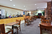 Free hot breakfast in our Charlotte hotel's dining area