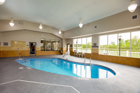 Sparkling indoor swimming pool