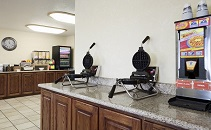 Dining area with two waffle makers