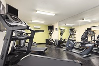 Hobbs hotel's fitness center with treadmills and more
