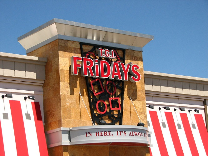 Convenience of TGI Fridays in the Parking Lot