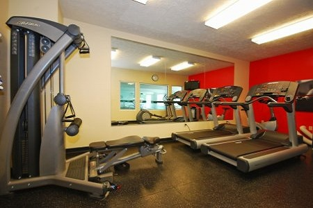 Fitness center at Fairborn hotel