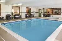 Macedonia hotel's indoor pool and hot tub