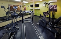 Hotel fitness center with cardio equipment