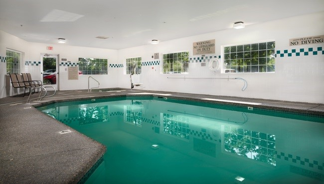 Indoor pool at Portland airport hotel