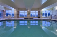 Indoor pool at Harrisburg hotel