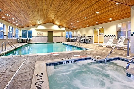 Harrisburg hotel's heated indoor pool and hot tub