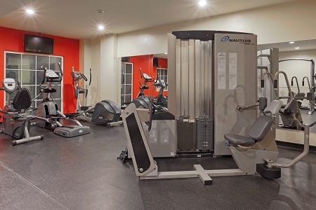 Panama Canal hotel's fitness center with treadmills and more