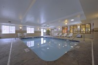 Heated indoor pool at our hotel near Pittsburgh International Airport