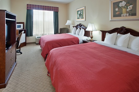 Aiken hotel room with two queen beds at the Country Inn & Suites