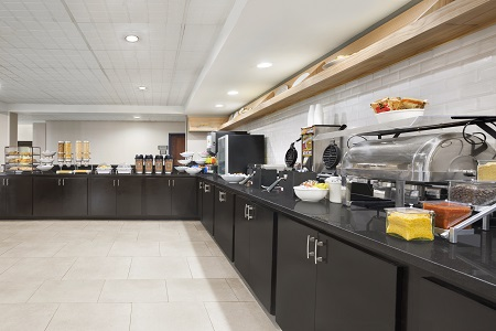 Complimentary, hot breakfast in hotel dining area