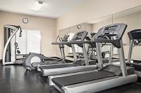 Treadmills in hotel fitness center