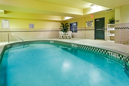 Sparkling indoor pool in North Charleston