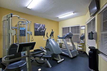 Hotel fitness center with an elliptical and a treadmill in Rock Hill