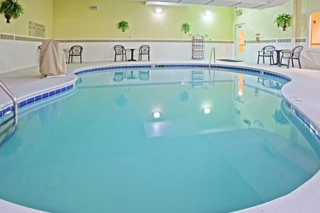 Indoor pool with seating in Knoxville