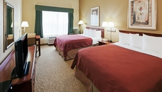 Hotel room with two queen beds in Houston, TX