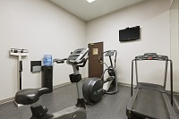 Austin North hotel's fitness center with treadmill