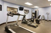 Fitness center with various exercise machines