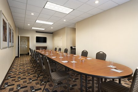 Meeting room with audiovisual equipment