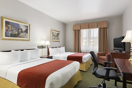 Hotel room with two queen beds in Fort Worth