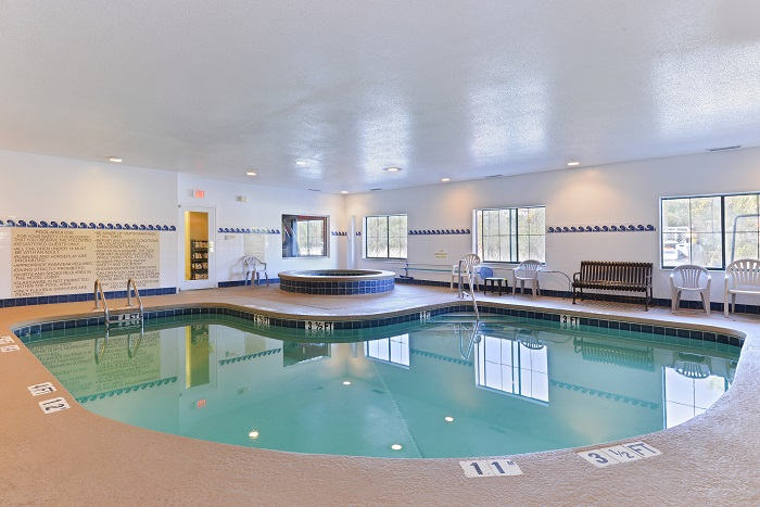 Indoor Heated Pool with Whirlpool Tub
