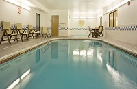 Temple hotel's indoor heated pool