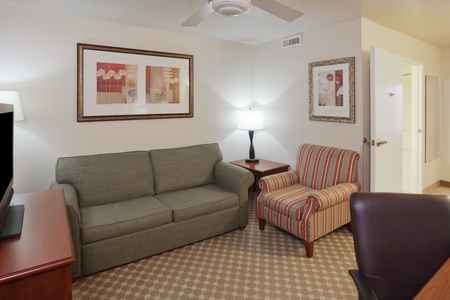 Separate living area in one of our hotel's spacious suites