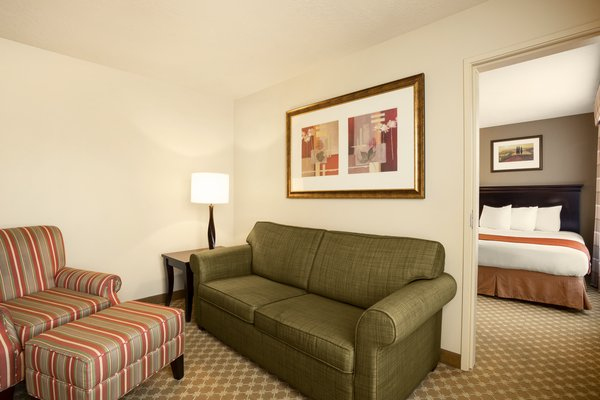 Suite Living Room and Bedroom