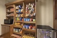 Hotel market in Doswell features snacks and a microwave