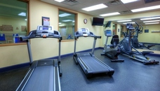 Hotel fitness center with treadmills and other equipment