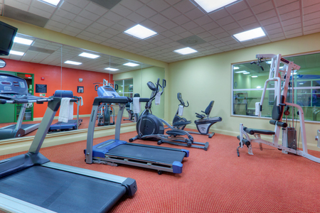 Hotel fitness center in Fredericksburg with treadmills and more