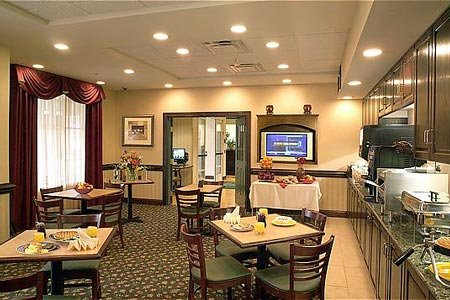 Free, hot breakfast in the dining area