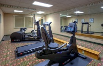 Fitness center at Roanoke hotel