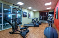 Fitness center with modern exercise equipment