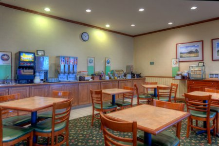 Breakfast area with both hot and cold selections