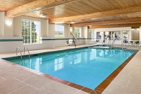 Indoor pool at Kenosha, WI hotel