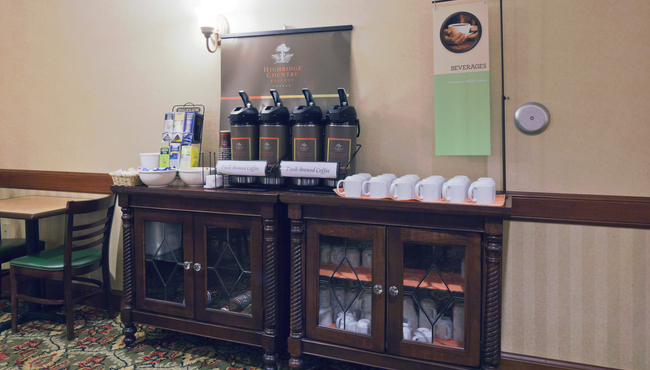 Complimentary Coffee in the Lobby