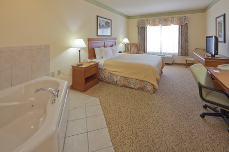 Spacious suite with in-room whirlpool