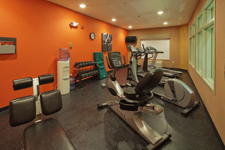 Fitness center with weights and cardio equipment