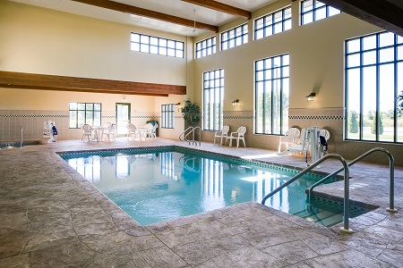 Madison hotel's indoor pool and hot tub