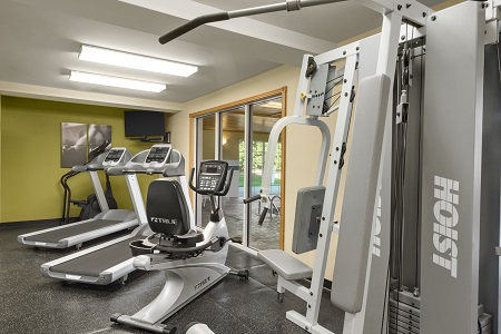 Fitness center with cardio machines and a multi-gym