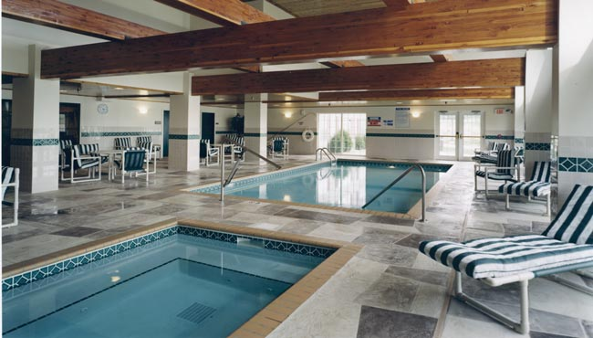 Indoor Pool and Whirlpool Tub
