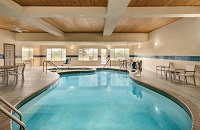 Indoor pool at West Bend hotel