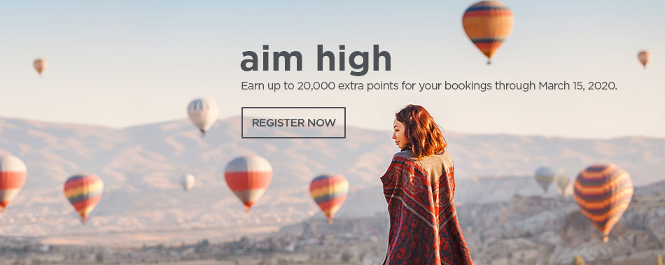Earn up to 20,000 extra points for your bookings